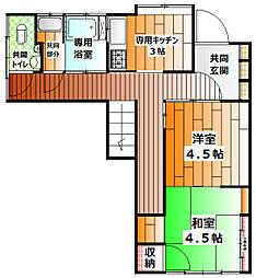 東京都豊島区池袋3丁目の賃貸アパートの間取り
