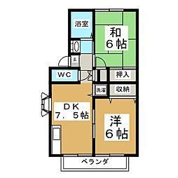 ベルパーク川平II[1階]の間取り