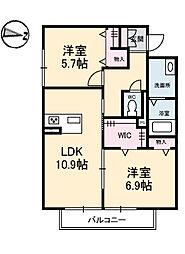 BEREO AKUI[1階]の間取り