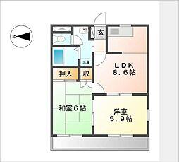 湘南アクセスIII[2階]の間取り