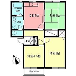 ジョイフルハウス[2階]の間取り