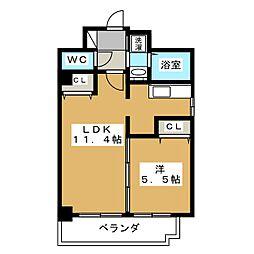 サンクチュアリ二条城II[2階]の間取り