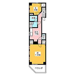 安部マンション[3階]の間取り