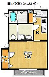 フォルス21[2階]の間取り