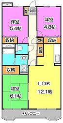 東京都練馬区三原台3丁目の賃貸マンションの間取り