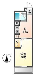 大観荘[3階]の間取り