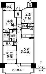 大阪府和泉市小田町の賃貸マンションの間取り