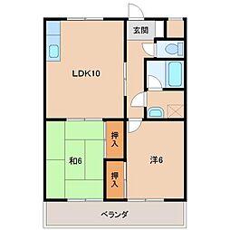 グリーンフル堀井[2階]の間取り