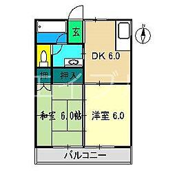 MFマンション[2階]の間取り