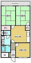 サニープレイス住之江[402号室]の間取り