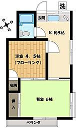 井の頭ハウス[203号室]の間取り