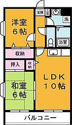 三島屋マンション[301号室]の間取り