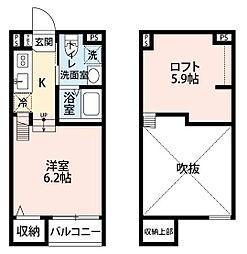 ケイティハイツIII[2階]の間取り