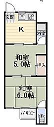 基陽マンション[2階]の間取り