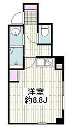 横浜市営地下鉄ブルーライン 桜木町駅 徒歩5分の賃貸マンション 1階ワンルームの間取り