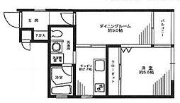 シティコート横浜[4階]の間取り