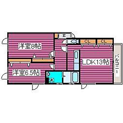 北海道札幌市東区北四十八条東15丁目の賃貸アパートの間取り