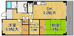 スピカ・リヴェルテ 6階2SDKの間取り