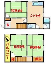 柴田ハウス 1[2階]の間取り
