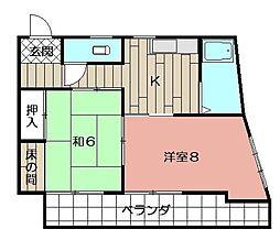 大島ビル[305号室]の間取り