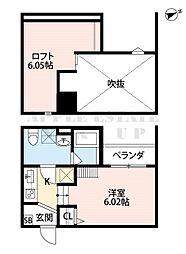 bellezza住之江[2階]の間取り
