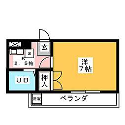 サンコーポ富士[3階]の間取り