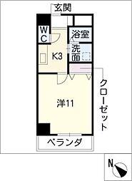 コートモーリス新道[8階]の間取り