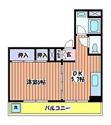 ニューグリーンコーポ[3階]の間取り