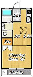 エステートタイム5[2階]の間取り