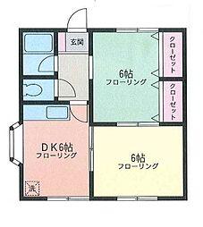 フルゴオリハイツ[2階]の間取り