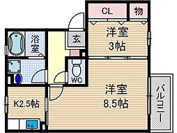 リンデンバウム C棟[1階]の間取り