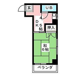 メゾンクレリア[2階]の間取り