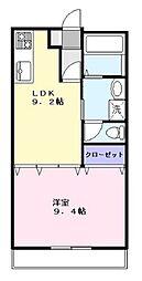 プルミエ国分[4階]の間取り