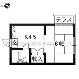 BOX HOUSE[103号室]の間取り