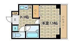 兵庫県神戸市須磨区大田町4丁目の賃貸マンションの間取り