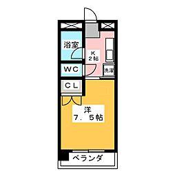 サンアップロイヤルガーデンPartI[6階]の間取り