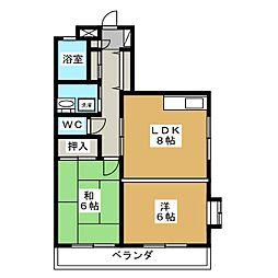 T'S5[4階]の間取り