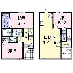 サント・ボーム脇浜[1階]の間取り