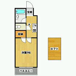パーパス紫竹[3-A号室]の間取り