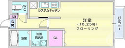 コンフォートAOYAMA A棟 1階ワンルームの間取り