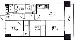 ライオンズマンション小平栄町[3階]の間取り