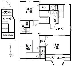 東京都狛江市猪方2丁目の賃貸アパートの間取り