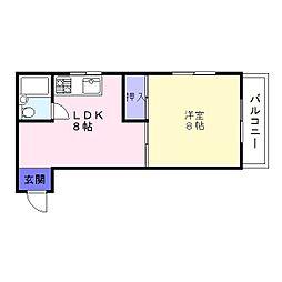 松井コーポ[1階]の間取り