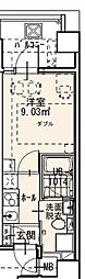 Randor Residence Fukuoka 4階1Kの間取り