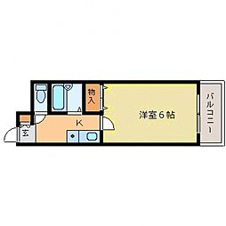 ディアコート本山[406号室号室]の間取り