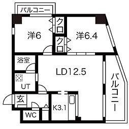 小原橋マンション[2階]の間取り