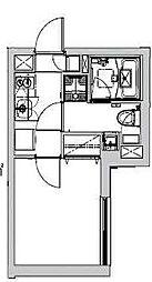 西武新宿線 沼袋駅 徒歩10分の賃貸マンション 2階1Kの間取り