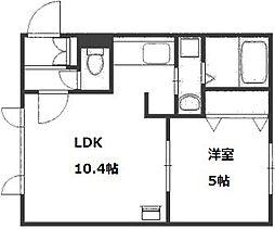 チケン豊平公園[4階]の間取り