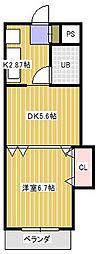 エミネンス新松戸[3階]の間取り