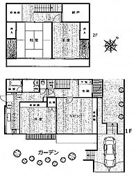 [一戸建] 神奈川県川崎市麻生区千代ケ丘3丁目 の賃貸【/】の間取り